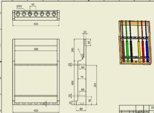 図3. 改造竿立て大図面