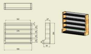 図1. ミニカーラック図面