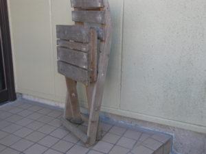 図4. 折りたたんだ椅子