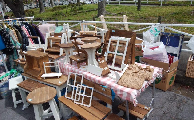 第20回北久里浜桜まつりフリーマーケット出店の様子